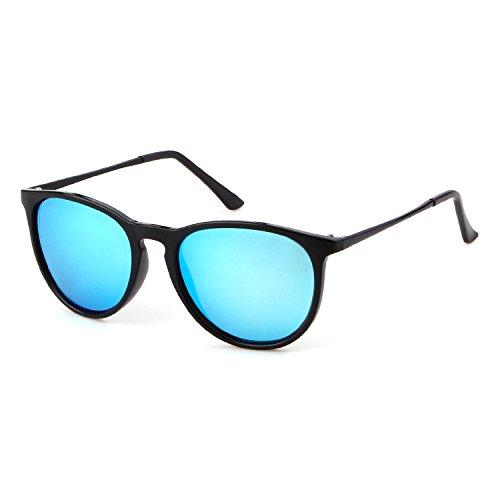lunettes UV400 Blue frame conduite protection Lunettes polarisées soleil ADEWU de en la de vélo pour Wayfarer Black unisexe lens wXzZBq