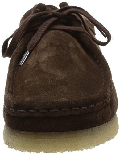 Clarks Originals Wallabee Herren Derby Schnürhalbschuhe Braun (Dark Brown Suede)
