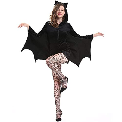 YOUTH UNION Women's Halloween Cosplay Costume Bat Vampire Dress Up (L) by YOUTH UNION (Image #3)