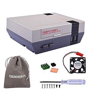 Retroflag NESPi Case+ Plus Functional Power Button with Safe Shutdown & Cooling Fan & Heatsinks & Flannel Bag for RetroPie Raspberry Pi 3/2 Model B & Raspberry Pi 3B+ (NESPI Case+)