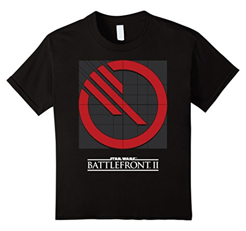 Kids Star Wars Battlefront II Inferno Squad Logo Graphic T-Shirt 12 Black