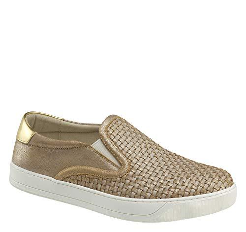 - Johnston & Murphy Women's Elaina Shoe Gold Metallic Leather 7.5 M US