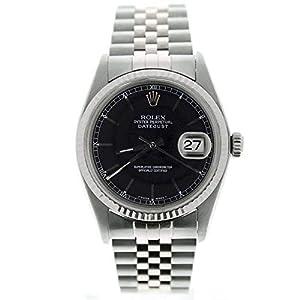 Best Epic Trends 41CCXLCWK5L._SS300_ Rolex Men's Datejust 16014 Jubilee Band Black Stick Dial 18k Gold Fluted Bezel (Certified Preowned)
