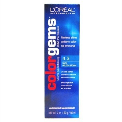 Loreal Color Gems Activator (Loreal Color Gems #4.3 Dark Gold Brown 2oz)