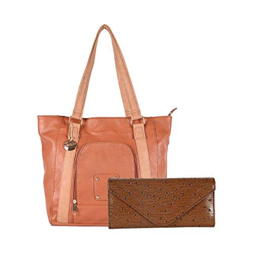 Venicce Women's Shoulder Bag Combo (Brown) (VN102BRWCOM1)