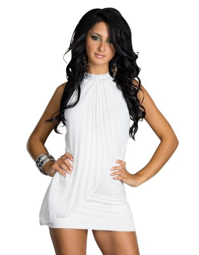 3713 Dos nu-mini-robe-blanc-taille 36/38