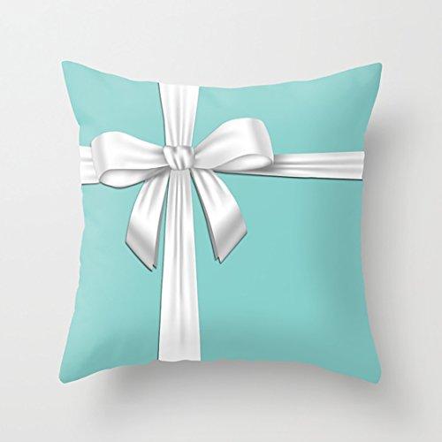 WUMIARUA Cushion Blue Tiffany Box Throw Pillowcase Set with Pleasing Feeling 18