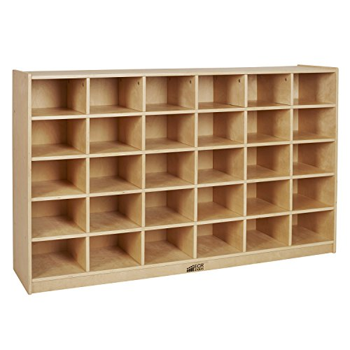ECR4Kids Birch 30 Cubby Tray Cabinet