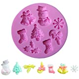 JD Million shop Hot Sale Pink Snowflake Cake Mold Decorating Tools Molde De Silicone Cookie Chocolate Cutter Dies Decorating Tool GF052