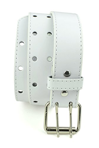 belle-donne-girls-leather-two-hole-perforated-jean-belt-white-large