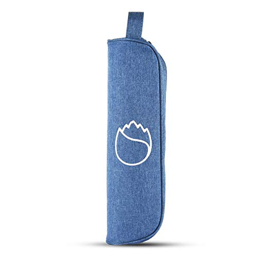 Freshore Insulated Single Wine Tote Bag Carriers For Cooler Restaurant As Christmas Gift - Firmly Store Corkscrew (Cowboy Blue) by Freshore
