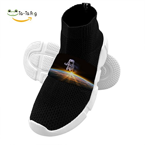 OmyHD Flying Pilot in Space Kids Lightweight High Heel Shoes Mesh Outdoor Sports Sneakers