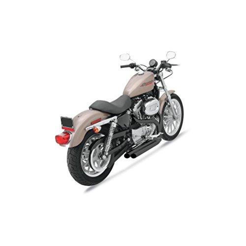 (04-13 HARLEY XL1200C: Bassani Xhaust Pro-Street Series Exhaust (Black/Forward Controls/Slash-Cut))
