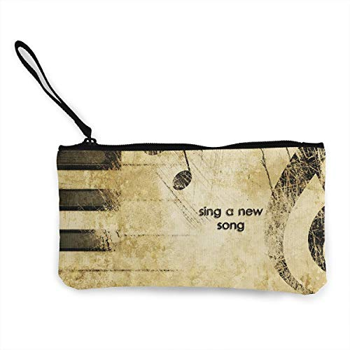 Oomato Canvas Coin Purse Sing A New Song Cosmetic Makeup Storage Wallet Clutch Purse Pencil Bag -