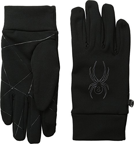 Spyder Stretch Fleece conduct-Glove, Black, Small (Black Spyder Fleece)