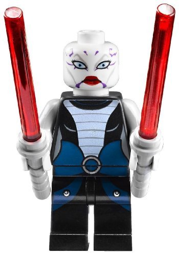 LEGO Asajj Ventress with 2 Red Lightsabers with Special Handle Included Star War's Minifigure New 2011