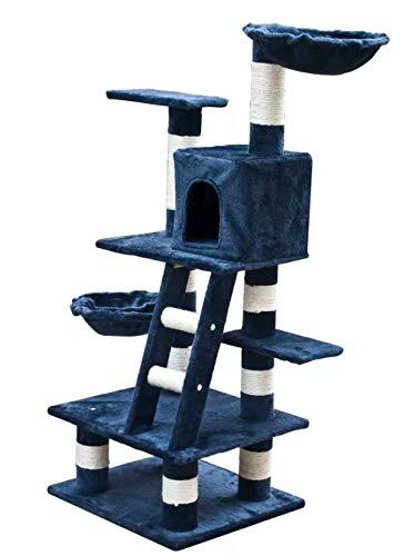 PAVLIT Cat Play Tree 122 cm Dark bluee Plush 170136