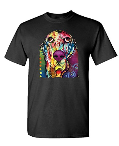 The Goozler NEON Blacklight Bassett Hound - Hunting Dog - Mens Cotton T-Shirt, L, - Hounds Bassett