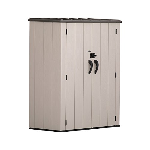 Lifetime 60280 Vertical Storage Shed, Desert Sand