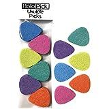 BoloPick, 12 Ukulele Picks, Felt Picks, Economy Pack (12 Pack, Multi Color Fiesta :)