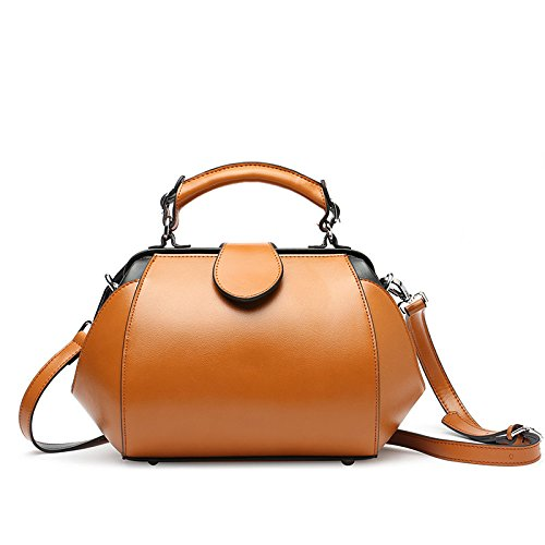 Women Leather Tote for Handbags Brown Shoulder Designer Package Crossbody Doctor Genuine Satchel Classic Bag Messenger x18twEn