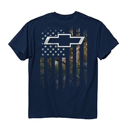 Buck Wear Men's GMC Chevy Camo Accent Flag T-Shirt, Blue Dusk, X-Large from Buck Wear