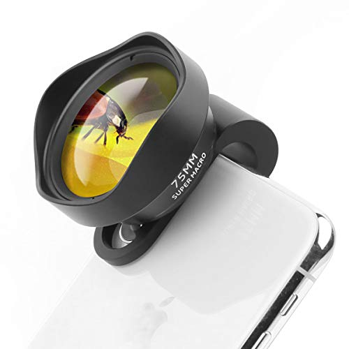 ULANZI 10X Macro Phone Camera Lens,75mm Super Marco Clip on Mobile Phone Lens for iPhone 11 Pro Max X XS Max 8 Plus Pixel Samsung Galaxy OnePlus