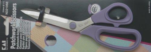 Kai 3210 8 1/4 Inch Serrated Blade Patchwork Scissor by Kai