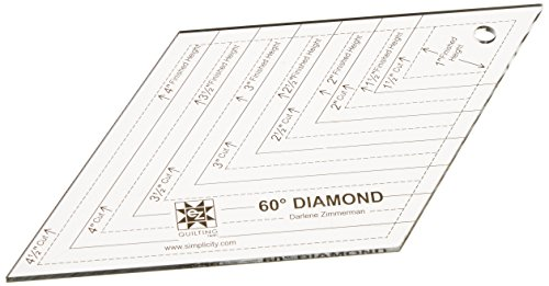 Simplicity 60 Degree Diamond Quilting Ruler and Quilting Template, 8
