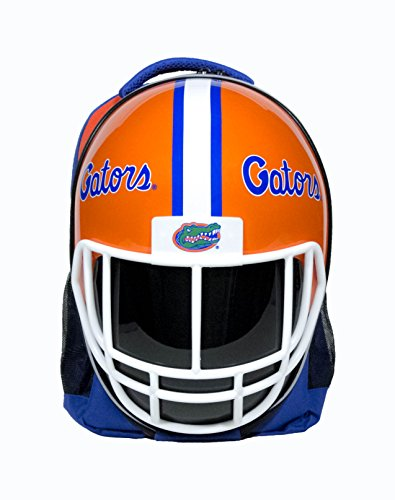 NCAA Florida Gators Florida Gators Football Helmet Backpackflorida Gators Football Helmet Backpack, Orange/ Blue, One Size ()