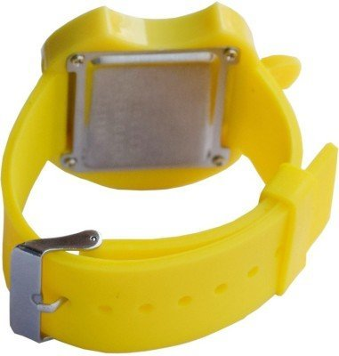 S S Traders- Yellow Led Digital Watch and Yellow Apple led Watch for Girls/Boys-Good Gift for Kids
