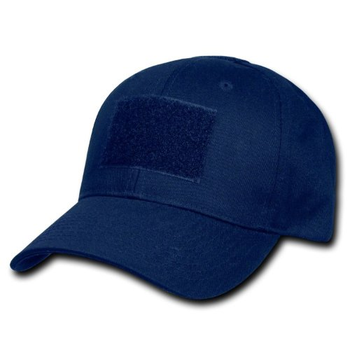 RAPDOM Genuine Tactical Constructed Ball Operator Cap Navy Caps with Free Patch (Navy Blue, Police Patch)