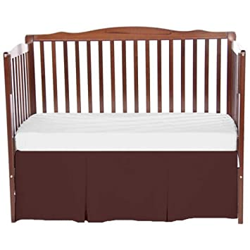 bkb Solid Tailored Crib Skirt, Brown 009243405351