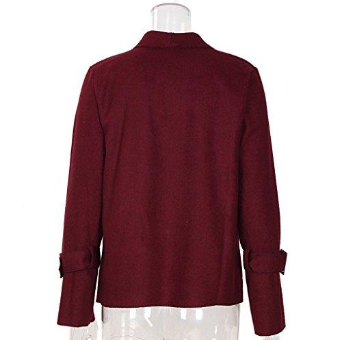 Section Fashion Sleeve Wine Casual Yunpeng Jacket Long Cardigan Women's Coats Short qwxxI4EWR7