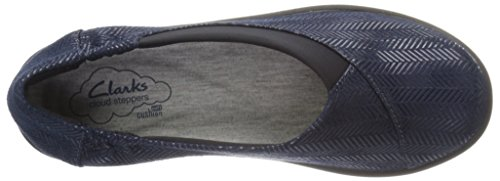 Clarks mujer cloudsteppers Sillian Jetay soporte de Navy Combo Synthetic
