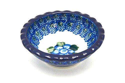 Polish Pottery Dish - Food Prep - Round - Blue - Poppy 268