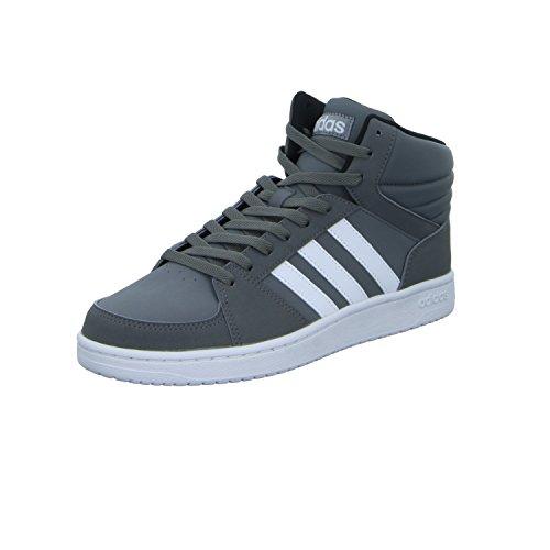 adidas Scarpe Uomo Sneakers Vs Hoops In Pelle Grigio B74285