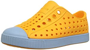 Native Kids Jefferson Child Water Proof Shoes, Marigold Orange/Sky Blue, 13 Medium US Little Kid