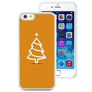 Fashionable Custom Designed iPhone 6 4.7 Inch TPU Phone Case With Minimal Flat Christmas Tree Illustration Orange_White Phone Case