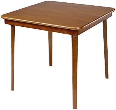 Stakmore Straight Edge Folding Card Table Finish, Fruitwood