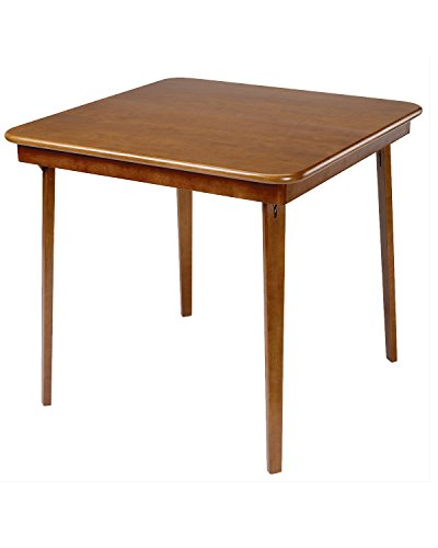 (Stakmore Straight Edge Folding Card Table Finish, Fruitwood)