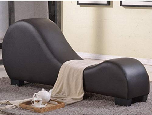 Amazon.com: Leather Chaise Lounge Yoga Chair Recliner Sex ...
