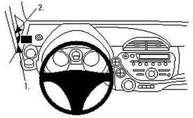 A-S/äule Brodit Proclip passend f/ür Honda Jazz L/üftungsgitter Links oben 09