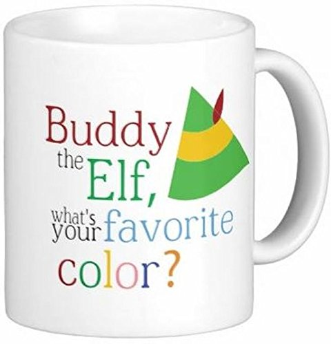Pair of Buddy The Elf 11 oz Ceramic Coffee Mugs by Quick Mugs 2 U