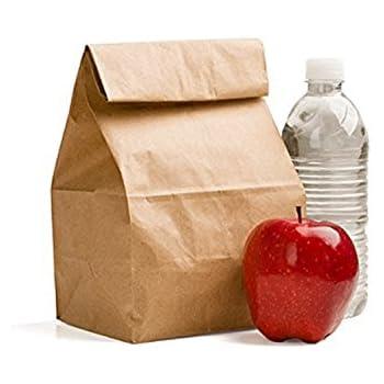 5e65089af520 Amazon.com - AJM Brown Paper Lunch Bags 40 Count - Reusable Lunch Bags