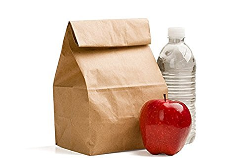 Green Direct Perfect Durable Brown Paper Lunch Bags Size Medium for All Ages (Pack of 100)
