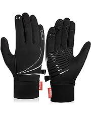 Benirap Winter Thermische Handschoenen, Winddichte Hardloophandschoenen, Grip Fietshandschoenen Warm Touchscreen Handschoenen voor Mannen Vrouwen Wandelen Fietsen Klimmen Skiën