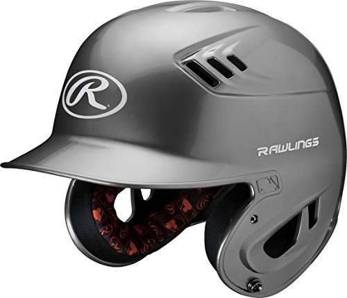 Rawlings R16 Series Metallic Batting Helmet, Silver, Senior ()