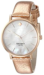 Kate Spade New York Women's Metro Rose Gold-Tone Watch with Metallic Leather Band (B00E1HIMQW) | Amazon price tracker / tracking, Amazon price history charts, Amazon price watches, Amazon price drop alerts