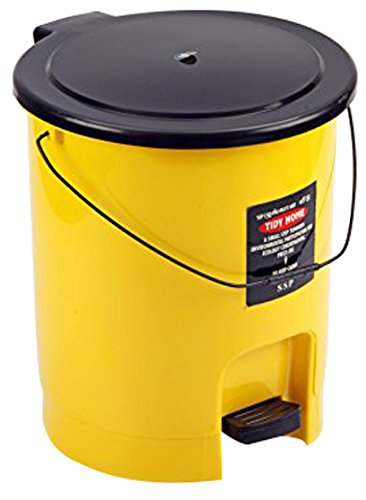 Sunshine Tidy Home Plastic Dustbin, 15 litres, Big, Yellow, Glass Finish Price & Reviews